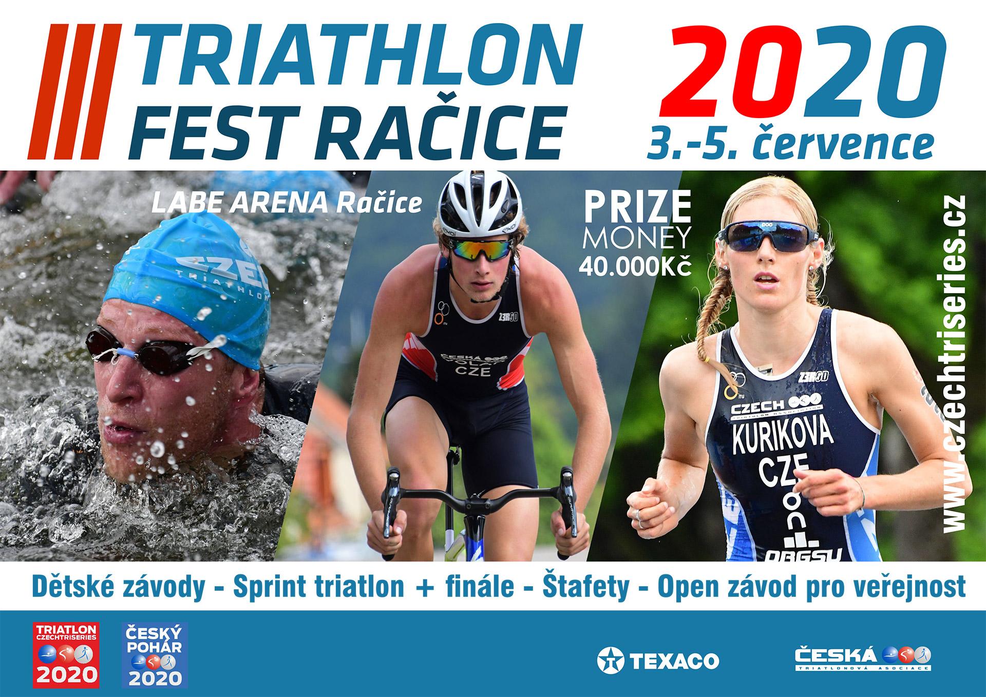 triathlon fest Račice letáček